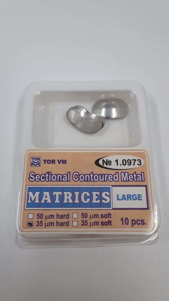 1.0973  Sectional Contoured Matrices. Large. 0.035. Hard 10pcs.